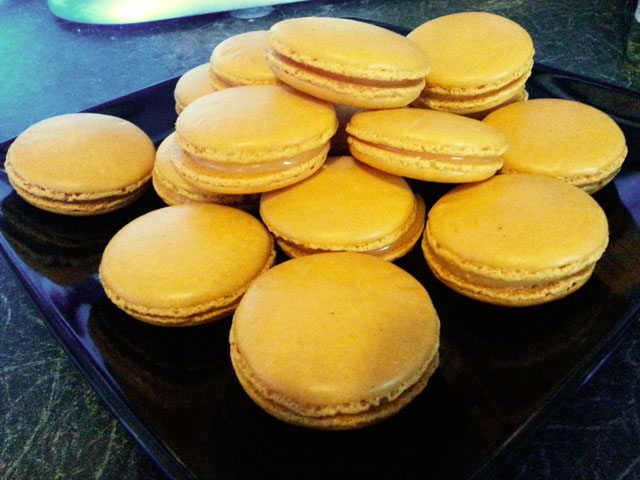 Lemon macarons... maybe too much yellow.